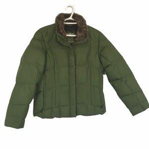 Eddie Bauer goose down puffer jacket L